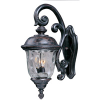 Maxim 3497WGOB Carriage House DC 3 Light 27 inch Oriental Bronze Outdoor Wall Mount