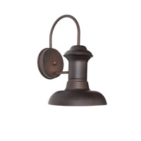 Maxim 35001EB Wharf 1 Light 10 inch Empire Bronze Outdoor Wall Mount