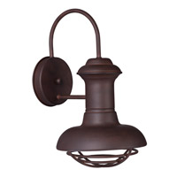 Maxim Lighting Wharf 1 Light Outdoor Wall Lantern in Empire Bronze 35011EB