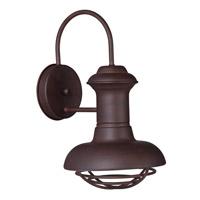 Maxim 35011EB Wharf 1 Light 14 inch Empire Bronze Outdoor Wall Lantern