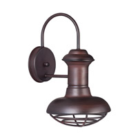 Maxim Lighting Wharf 1 Light Outdoor Wall Lantern in Oriental Bronze 35011OB