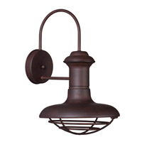 Maxim Lighting Wharf 1 Light Outdoor Wall Lantern in Empire Bronze 35012EB