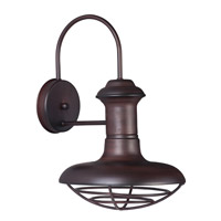 Wharf 1 Light 15 inch Oriental Bronze Outdoor Wall Lantern