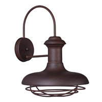 Maxim Lighting Wharf 1 Light Outdoor Wall Lantern in Empire Bronze 35013EB