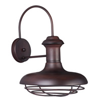 Maxim Lighting Wharf 1 Light Outdoor Wall Lantern in Oriental Bronze 35013OB