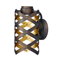 Weave LED 6 inch Bronze Gilt and Gold Wall Sconce Wall Light