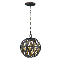 Weave LED 12 inch Bronze Gilt and Gold Single Pendant Ceiling Light