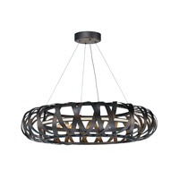 Weave LED 30 inch Bronze Gilt and Gold Entry Foyer Pendant Ceiling Light
