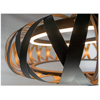 Maxim 35055BZGTGLD Weave LED 30 inch Bronze Gilt and Gold Entry Foyer Pendant Ceiling Light alternative photo thumbnail