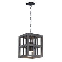 Cottage 1 Light 12 inch Weathered Wood Single Pendant Ceiling Light