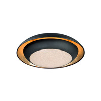 Iris LED 12 inch Gold Leaf and Black Flush Mount Ceiling Light