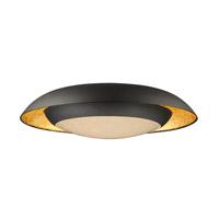 Maxim 35074CYGLBK Iris LED 24 inch Gold Leaf and Black Flush Mount Ceiling Light