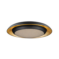 Iris LED 30 inch Gold Leaf and Black Flush Mount Ceiling Light