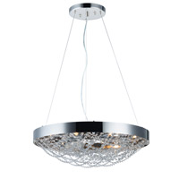 Lace 10 Light 25 inch Polished Nickel Multi-Light Pendant Ceiling Light