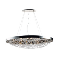 Lace 10 Light 22 inch Polished Nickel Multi-Light Pendant Ceiling Light