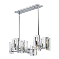 Suave 8 Light 35 inch Polished Nickel Linear Pendant Ceiling Light