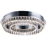 Icycle LED 22 inch Polished Chrome Flush Mount Chandelier Ceiling Light