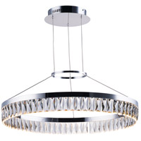 Icycle LED 27 inch Polished Chrome Suspension Pendant Ceiling Light