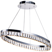 Icycle LED 15 inch Polished Chrome Suspension Pendant Ceiling Light