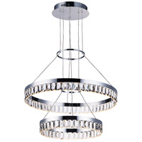 Icycle LED 24 inch Polished Chrome Suspension Pendant Ceiling Light