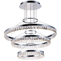 Icycle LED 32 inch Polished Chrome Suspension Pendant Ceiling Light