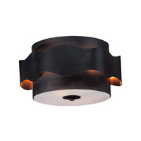 Flow 2 Light 16 inch Bronze Gilt and Gold Flush Mount Ceiling Light