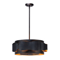 Flow 5 Light 22 inch Bronze Gilt and Gold Single Pendant Ceiling Light