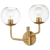 Maxim 38412CLNAB Branch 2 Light 18 inch Natural Aged Brass Vanity Light Wall Light