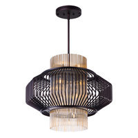 Maxim Lighting Aviary 3 Light Pendant in Oil Rubbed Bronze 38487CGOI