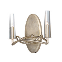 Maxim 38492CLGS Entwine 2 Light 11 inch Golden Silver Wall Sconce Wall Light