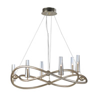 Entwine 6 Light 32 inch Golden Silver Single-Tier Chandelier Ceiling Light
