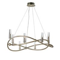 Entwine 8 Light 37 inch Golden Silver Single-Tier Chandelier Ceiling Light