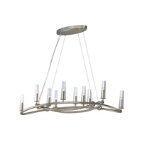 Entwine 10 Light 44 inch Golden Silver Single-Tier Chandelier Ceiling Light