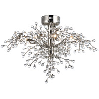 Cluster LED 29 inch Polished Nickel Semi-Flush Mount Ceiling Light