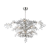 Cluster LED 47 inch Polished Nickel Chandelier Ceiling Light