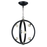 Maxim 39102BCTXBPN Equinox LED LED 18 inch Textured Black and Polished Nickel Pendant Ceiling Light