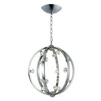 Equinox LED LED 25 inch Polished Nickel Pendant Ceiling Light