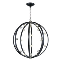 Equinox LED LED 40 inch Textured Black and Polished Nickel Pendant Ceiling Light