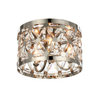 Cassiopeia 3 Light 14 inch Polished Nickel Flush Mount Ceiling Light