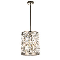 Cassiopeia 3 Light 12 inch Polished Nickel Multi-Light Pendant Ceiling Light