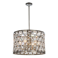 Maxim 39505BCPN Cassiopeia 6 Light 22 inch Polished Nickel Multi-Light Pendant Ceiling Light