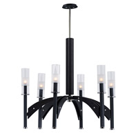 Merge 6 Light 29 inch Black and Wenge Chandelier Ceiling Light