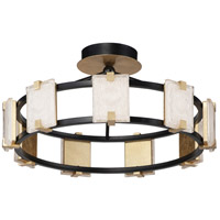 Maxim 39530CYBKGL Radiant LED 27 inch Black and Gold Leaf Flush Mount Ceiling Light