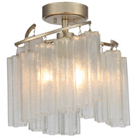 Maxim 39570WFLGS Victoria 3 Light 17 inch Golden Silver Semi-Flush Mount Ceiling Light