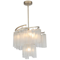 Maxim 39575WFLGS Victoria 7 Light 25 inch Golden Silver Single Pendant Ceiling Light