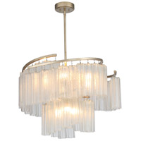 Maxim 39577WFLGS Victoria 9 Light 33 inch Golden Silver Single Pendant Ceiling Light