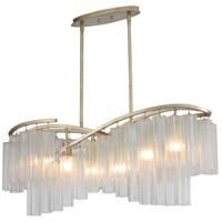 Maxim 39579WFLGS Victoria 6 Light 41 inch Golden Silver Linear Pendant Ceiling Light