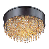 Mystic 1 Light 16 inch Bronze Flush Mount Ceiling Light