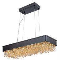 Mystic 1 Light 32 inch Bronze Linear Pendant Ceiling Light