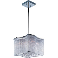 Swizzle 12 Light 19 inch Polished Chrome Single Pendant Ceiling Light